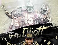 Ezekiel Elliott 2015 Season in Review Infographic