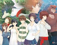 Poster tribute to Mamoru Hosoda and Yoshiyuki Sadamoto
