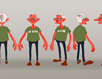 Character for cartoon.