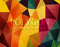 20 Color Polygon Backgrounds - 02 Styles - $5
