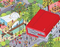 mural parque Explora