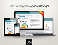 Web Site responsivo (mobile/desktop) | Inderme
