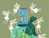 Summer fragrance, illustration