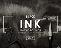 Black Ink Backgrounds Vol. 3