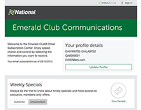Emerald Club Email Preference Center