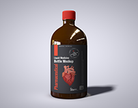 Free Liquid Medicine Bottle Mockup