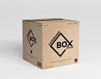 Free PSD Square Cardboard Box Mockup Design