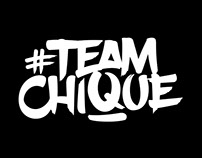#TeamChique logo and artwork
