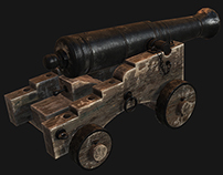 Naval Cannon (Low Poly)