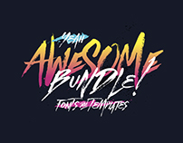 Awesome Bundle - 33 Fonts and 11 Templates.