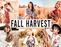 Free Fall Harvest Mobile & Desktop Lightroom Presets