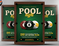 Pool Night Flyer Template