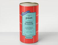 Poet tea canister
