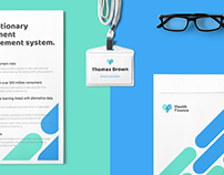 Health.Finance, logo and UX/UI design