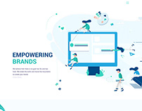 Company Website Design & Illustrations