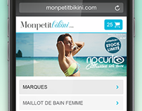 Mon Petit Bikini - Mobile Website