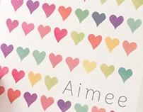Geboortekaartje Aimee