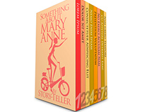 8-Book Box Set Mockup