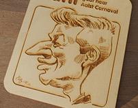 Laser cut caricature Jani Kazalzis