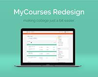 MyCourses Redesign | Web & UX Design