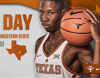 Texas Basketball Game Graphics Package