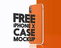 Free iPhone X Case Mockup