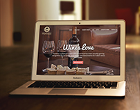 Wines love - Landing Page