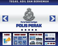Polis Perak Website Design
