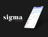 Sigma Bank | Finance and banking app