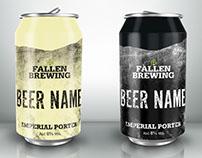 Fallen Brewing Branding