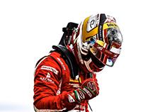 Charles Leclerc 2017 F2 Helmet