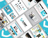 Laby - Rebranding: strategy, identity, web, offline+
