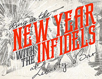 Liberty Bar New Year poster