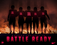 "Rutgers Football ""Ready for Battle"" graphic"