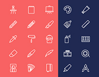 Art Tools Icons Free Download