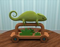 3D Creative Blitz: Chameleon Pull-Toy
