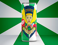 7up Egyptian Art Can