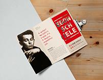 Egon Schiele Exhibition tri-fold brochure