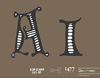 And Glows Axe On - Typeface Design