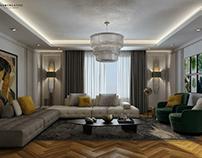 Neo classical apartment's reception