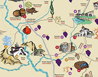 Map of wine routes