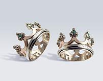 Crown wedding ring - crown ring Tyvodar.com