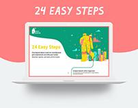 Branding + Website for 24 Easy Steps