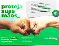Campanha Institucional - proteja suas mãos