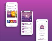 Meditation Music App UI Design