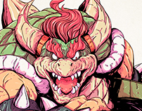 Bowser - Super Mario World - Commission