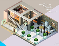 Dare Isometric House | Warm - Cold