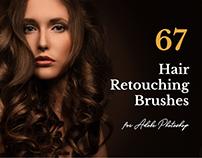 67 Hair Retouching Brushes For Photoshop