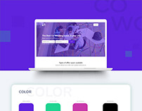 Marketing Page for CoWo (Co-Work App)