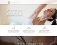 Namaste Yoga Concept